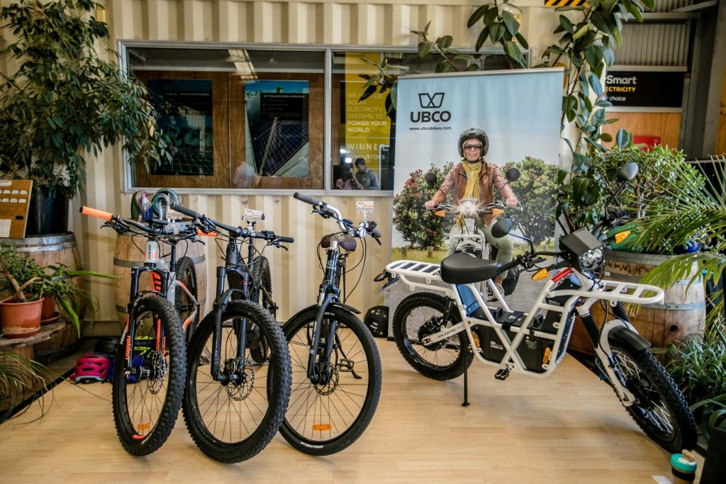 Ubco bikes at Groundswell Festival of Innovation